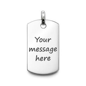 Rebel at Heart Silver Dog tag Pendant