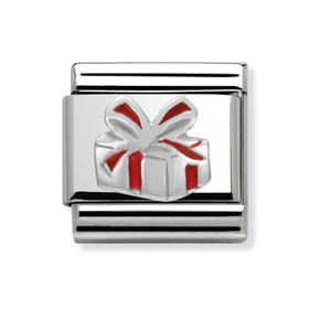 Stainless Steel Red Present Classic Charm
