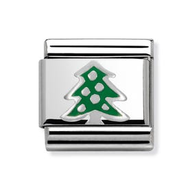 Green Christmas Tree Classic Charm
