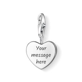 Engravable Silver Heart Charm