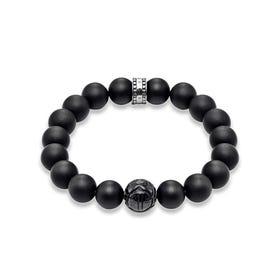 Matte Obsidian Bead Bracelet