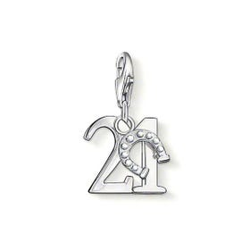 Silver 21 Charm