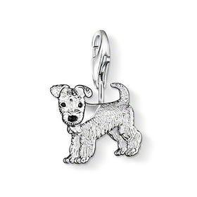 Silver Dog Charm