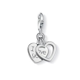 Silver I Love You Charm