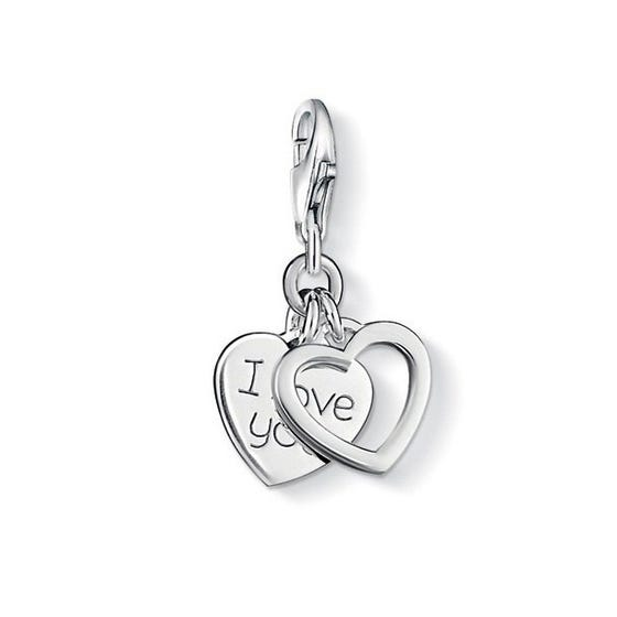 Silver I Love You Charm