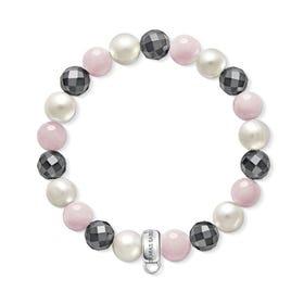 Charm Club Rose Quartz & Pearl Bracelet