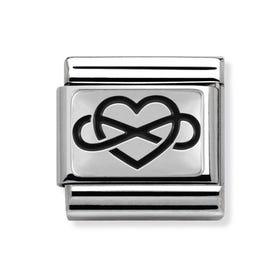 Oxidised Silver Infinite Love Classic Charm