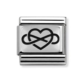 Oxidised Silver Infinite Love Classic Charm