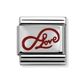 Classic Silver & Red Enamel Limitless Love Charm