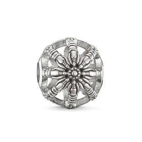Silver Wheel of Karma Bead