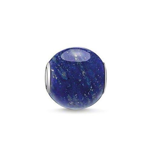 Silver & Lapis Lazuli Karma Bead