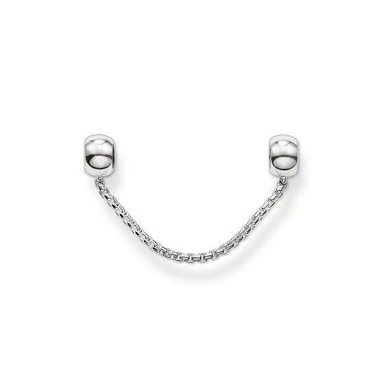 Silver Karma Bead Safety Chain