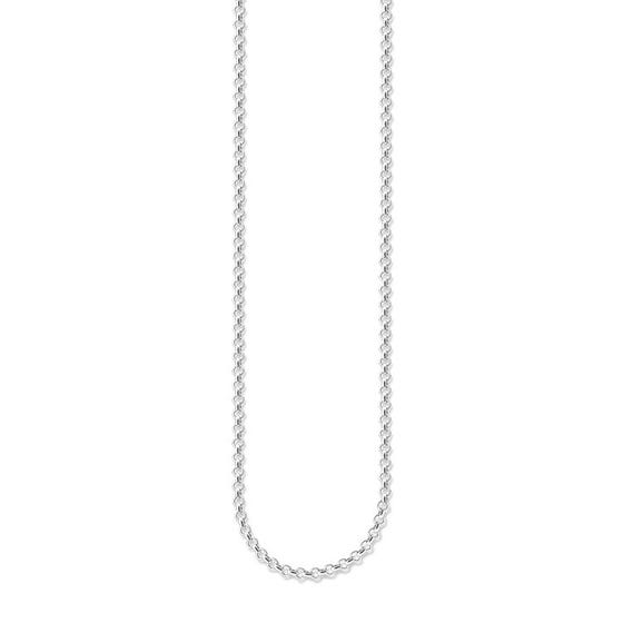 Silver Round Belcher Chain Necklace