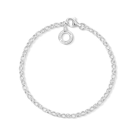 Silver Fine Chain Charm Bracelet