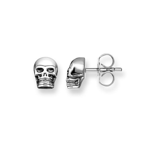 Rebel at Heart Silver Skull Earrings