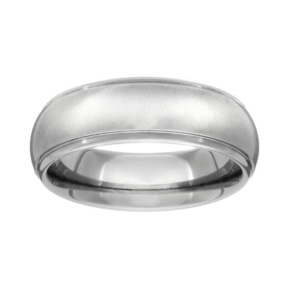 Titanium Shoulder Cut 7mm Ring
