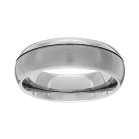 Titanium Brushed and Polished 7mm Ring