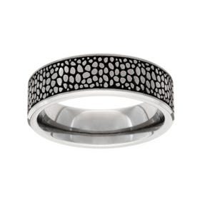 Titanium Brushed Stingray 7mm Ring