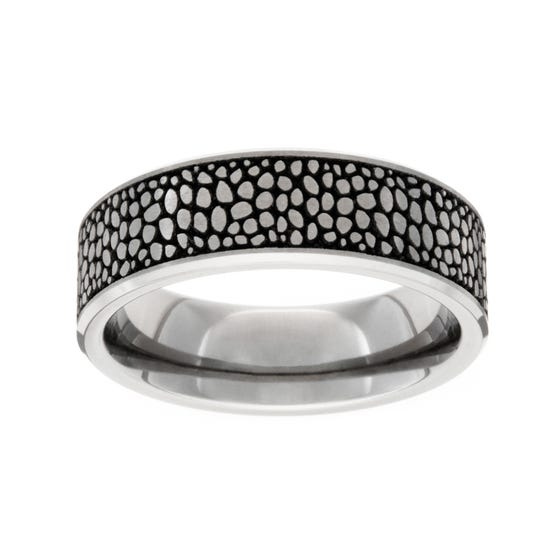 Titanium Brushed Stingray 5mm Ring