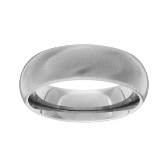 Titanium Brushed 6mm Ring