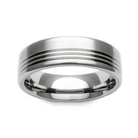 Titanium Stripe Accent 5mm Ring