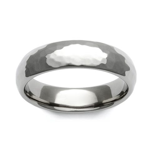 Titanium Hammered 6mm Ring