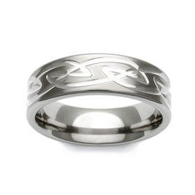 Titanium Celtic Knot Pattern 6mm Ring