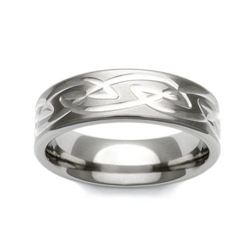 Titanium Celtic Knot Pattern 6mm Ring