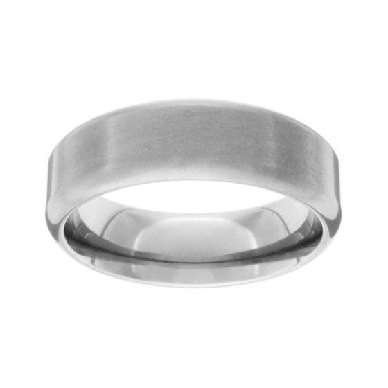 Brushed Titanium Rolled 7mm Ring