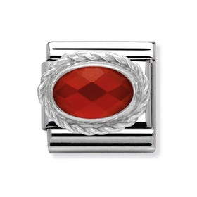 Red Agate Classic Charm