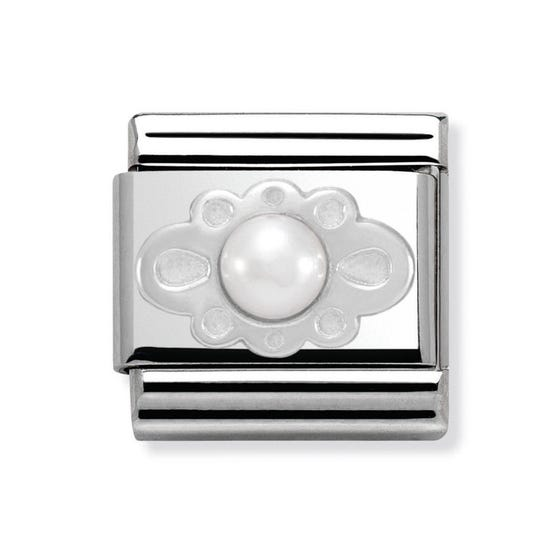White Pearl Lace Classic Charm