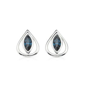 Silver Montana Swarovski Crystal Teardrop Earrings