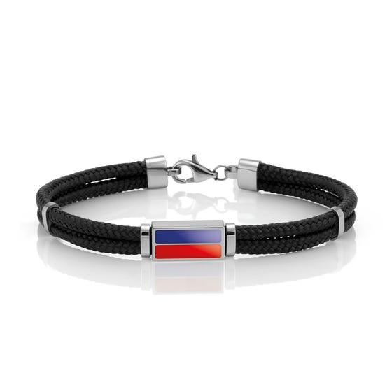 Nautica Flag Alphabet E Cord Bracelet