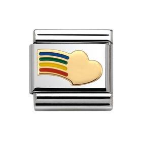 Rainbow Heart Classic Charm