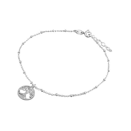 Wald Silver Tree of Life Anklet