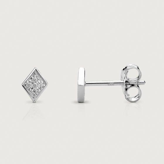Kite Silver CZ Stud Earrings