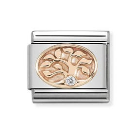Classic 9ct Rose Gold Tree of Life Charm