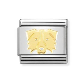 Classic 18ct Gold Border Collie Charm