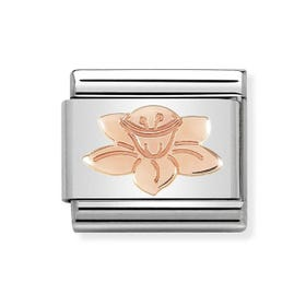 Classic 9ct Rose Gold Daffodil Charm