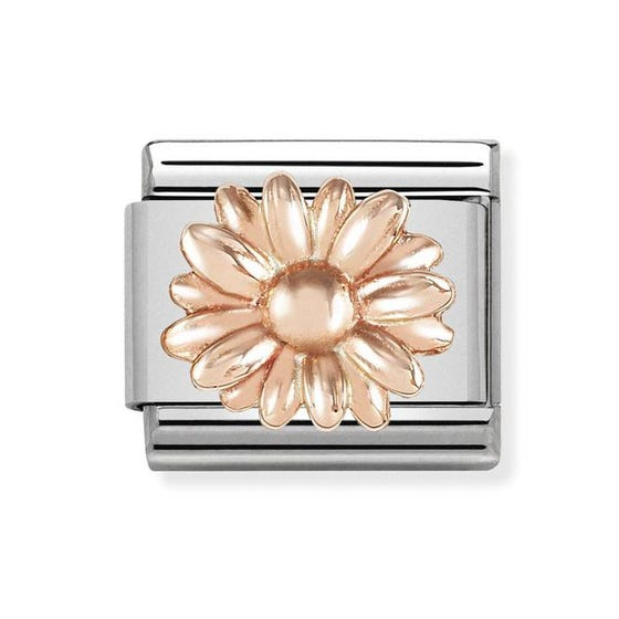 Classic 9ct Rose Gold Daisy Charm
