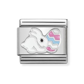 Classic Silver Easter Bunny Charm