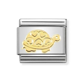 Classic 18ct Gold Turtle with Hearts Charm