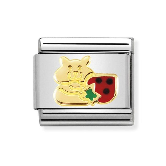 7630a6c6e6d47 Classic 18ct Gold Hamster with Strawberry Charm