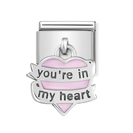 Classic Silver You're in my Heart Pendant Charm