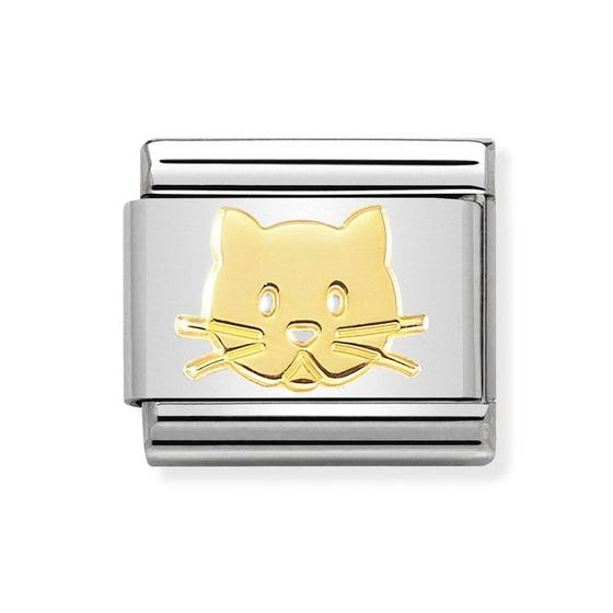 Classic 18ct Gold Cat Charm