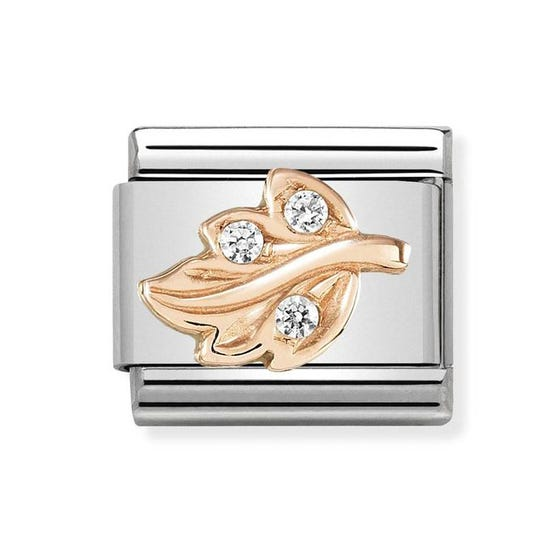 Classic 9ct Rose Gold Leaf Charm
