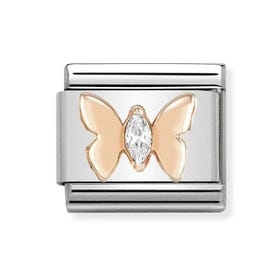 Classic 9ct Rose Gold Butterfly Charm