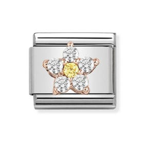Classic 18ct Gold Flower Charm