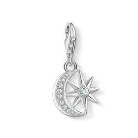 Silver Star & Moon Charm
