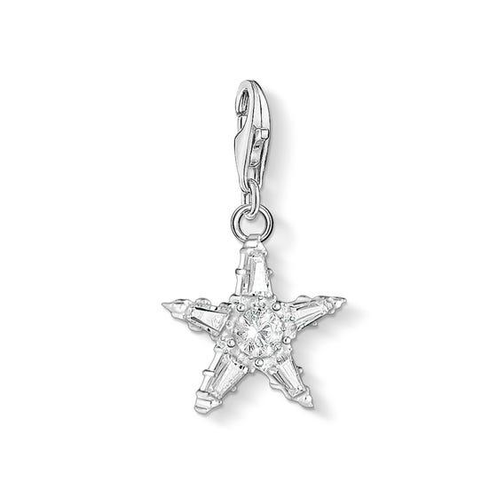 Silver Sparkling Star Charm